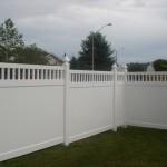 Vinyl PVC fence install Ottawa