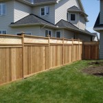 Western red cedar and pressure treated lumber - wood fence Ottawa