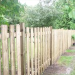 Western red cedar and pressure treated lumber fence Ottawa
