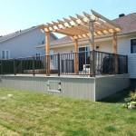 Western red cedar and pressure treated lumber deck pergola Ottawa