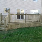 Western red cedar and pressure treated lumber deck Ottawa