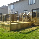 Western red cedar and pressure treated lumber deck Ottawa